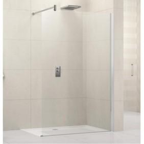 Paroi de douche ouverte - réversible - barre de renfort - 6mm - Lunes H NOVELLINI