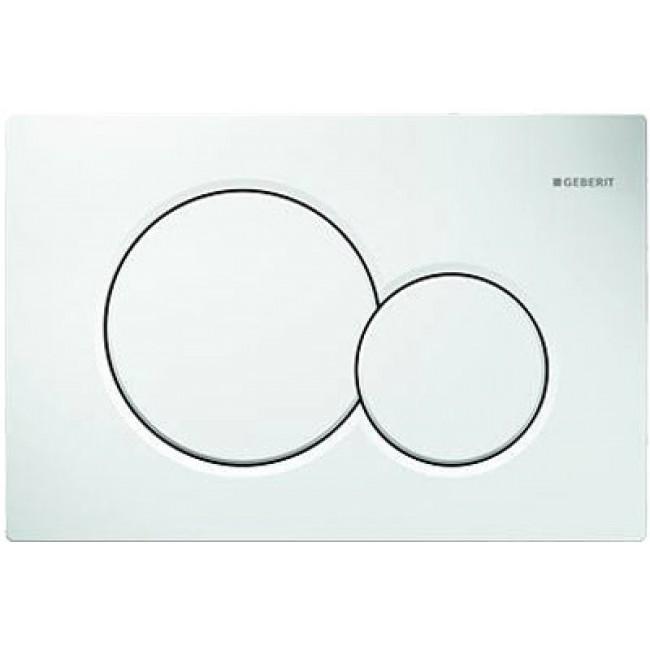 Plaque de commande double touche - Sigma 01 - blanc GEBERIT