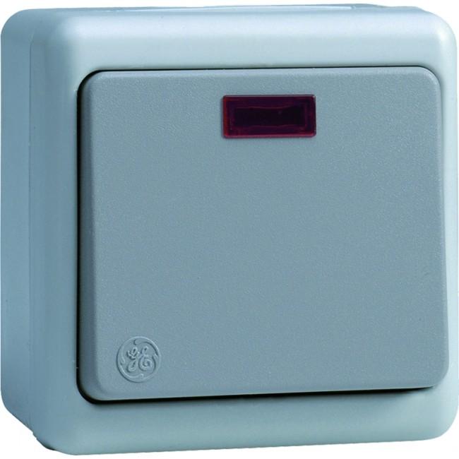 Interrupteur poussoir à voyant étanche - IP65 - Sintra AEG