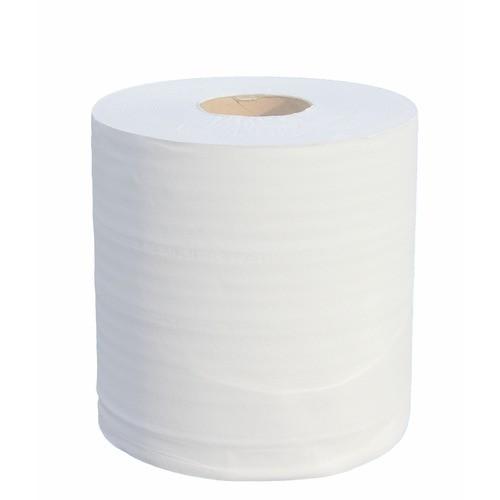 Lot de six rouleaux d'essuie-mains en ouate écolabel 100% recyclée ultra compacte