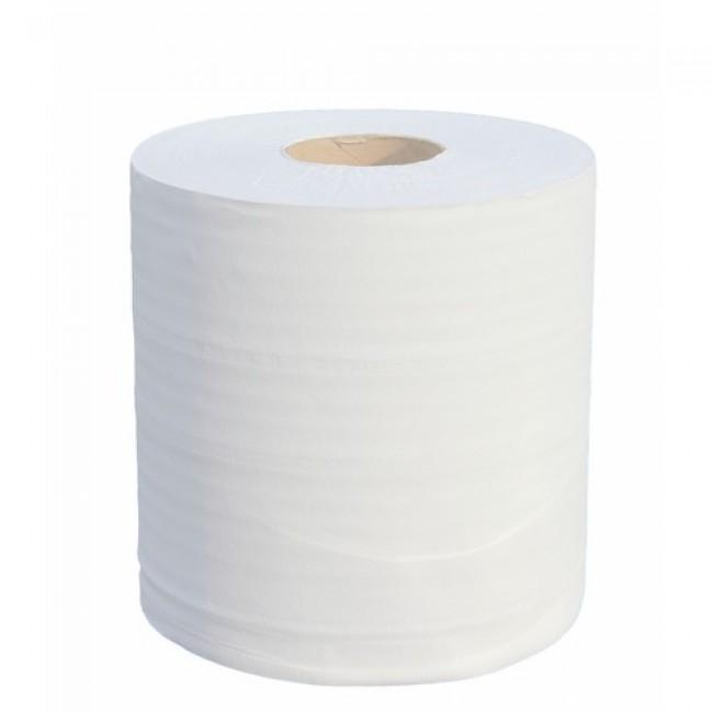 Lot de six rouleaux d'essuie-mains en ouate écolabel 100% recyclée ultra compacte PAPECO