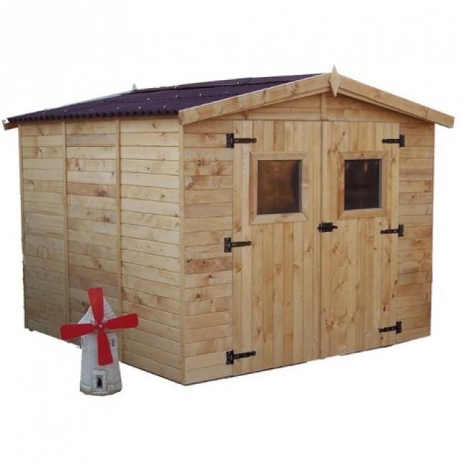 Abri de jardin bois - panneaux 16 mm - Eden - 5,60 m2 HABRITA