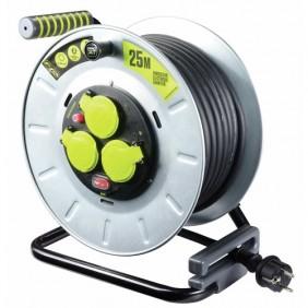 Enrouleur câble électrique - multiprises - Pro XT - tambour galva LUCECO