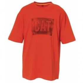 Tee-shirt orange - 100% coton 200 gr/m2 - Plate Caterpillar