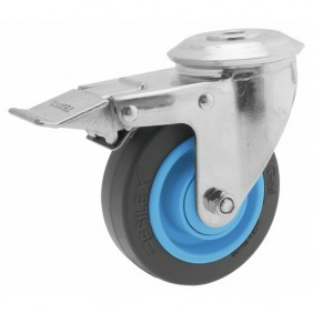 Roulette pivotante - à blocage - à oeil - Résilex® - Gemroll GUITEL