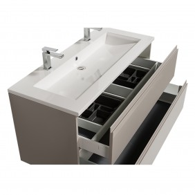 Meuble double vasque - reposant - Adele - 120 cm - 2 finitions BATHDESIGN