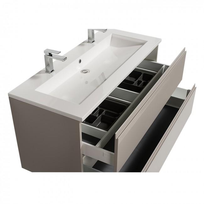 Meuble double vasque - reposant - Adele - 120 cm - 2 finitions BATHDESIGN