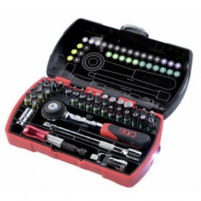 Coffret composition cliquet à douille radio + 36 outils pocket Light SAM OUTILLAGE