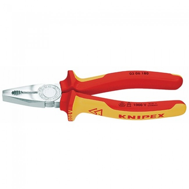 Pince universelle VDE isolée 1000V 180mm - 03 06 180 KNIPEX