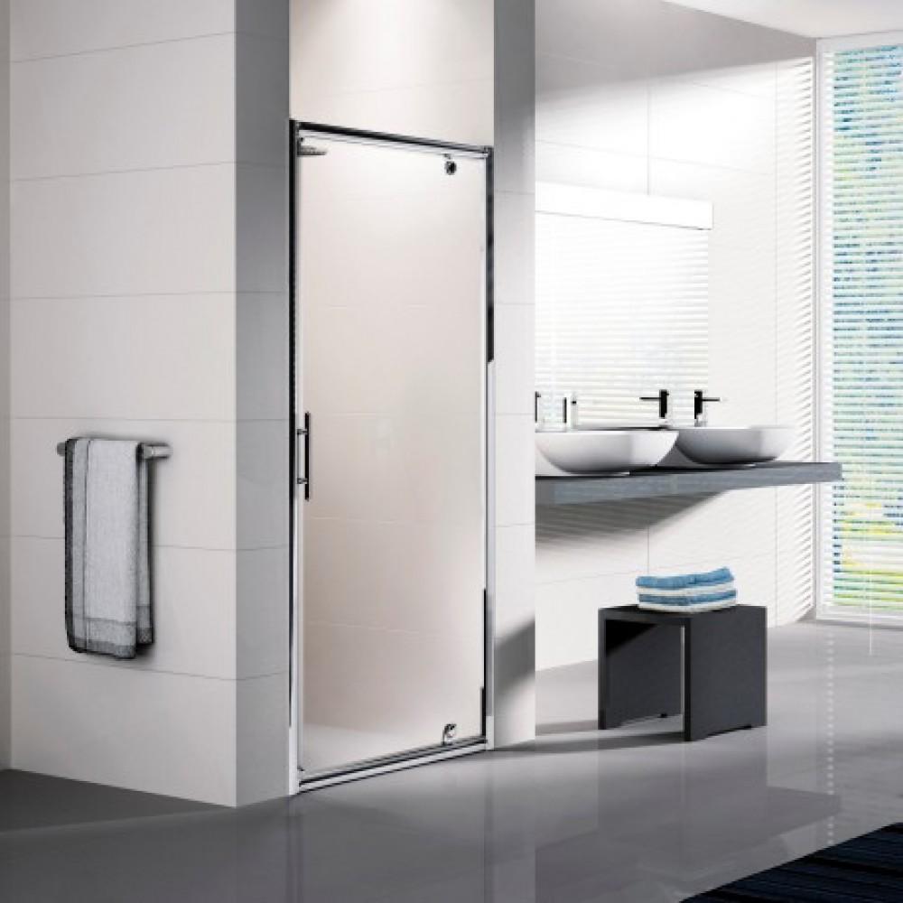 porte de douche pivotante verre transparent lunes g 72 78 cm bricozor. Black Bedroom Furniture Sets. Home Design Ideas