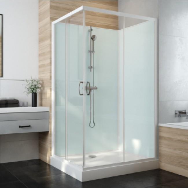 Cabine de douche carrée à portes coulissantes Iziglass 2 LEDA