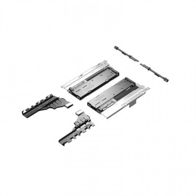 Système Push to open pour coulisse Quadro V6 InnoTech Atira HETTICH