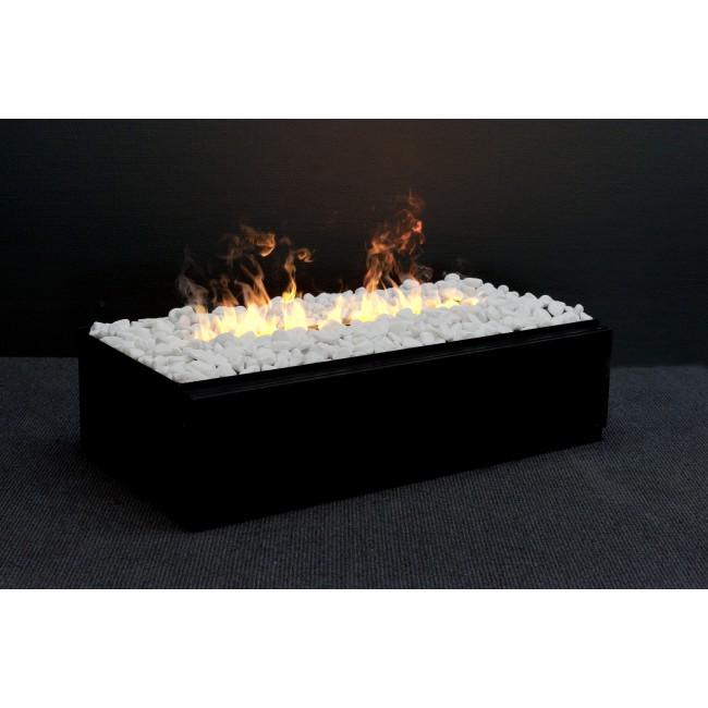 Poêle décoratif - optimyst - foyer encastrable - fumée réelle - Cassette L GLEN DIMPLEX