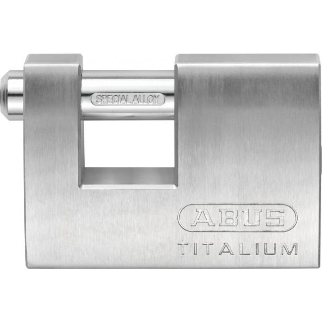 Cadenas à clé - rectangulaire - 70 mm - aluminium Titalium - 82TI/70 ABUS