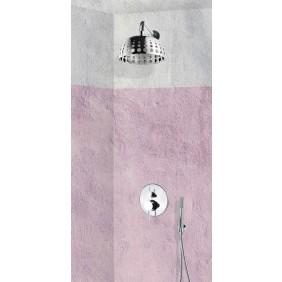 Colonne de douche encastrable murale et rond avec mitigeur PRATO SARODIS