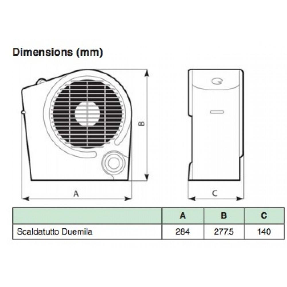 radiateur lectrique soufflant puissance 2000 watts scaldatutto vortice bricozor. Black Bedroom Furniture Sets. Home Design Ideas