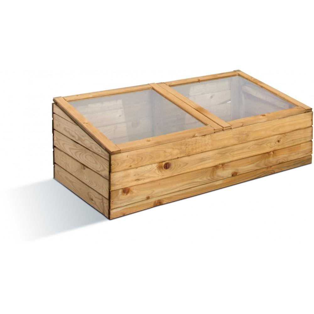 Serre de jardin en bois - châssis double - 7 litres JARDIPOLYS ...