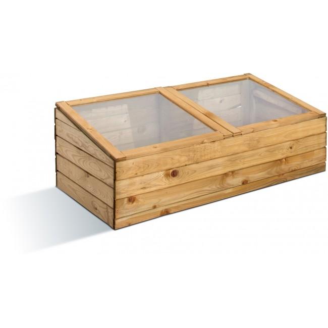 Serre de jardin en bois - châssis double - 107 litres JARDIPOLYS
