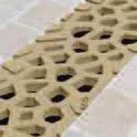 Caniveau Self 100 - grilles Voronoï - Citrine et diamant - sans pentes ACO PASSAVANT