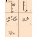 Système porte coulissante bois Régal A 25H-vantail 25 kg