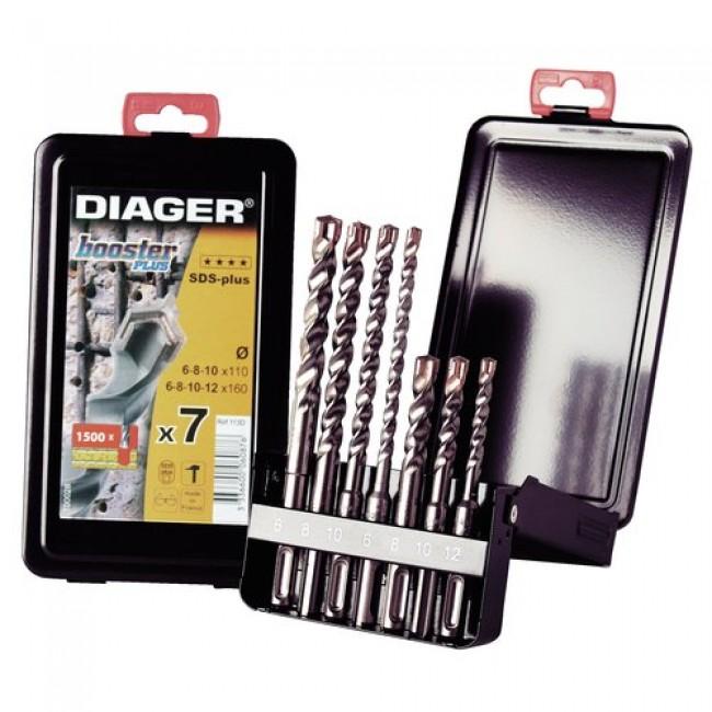 Coffret 7 forets à béton Booster Plus SDS + 113D, 6 à 12 mm DIAGER