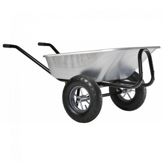 Brouette 2 roues gonflées - 150 litres - Expert Twin Premium HAEMMERLIN