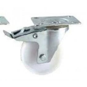 Roulette en polyamide sur platine pivotante à frein AVL