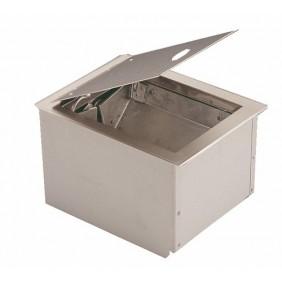 Vide déchets Nipak à trappe NETINOX