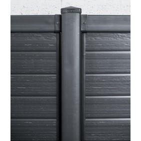 Kit poteau de clôtures jardin pour Saphir 100 x 12,5 x 12,5 cm