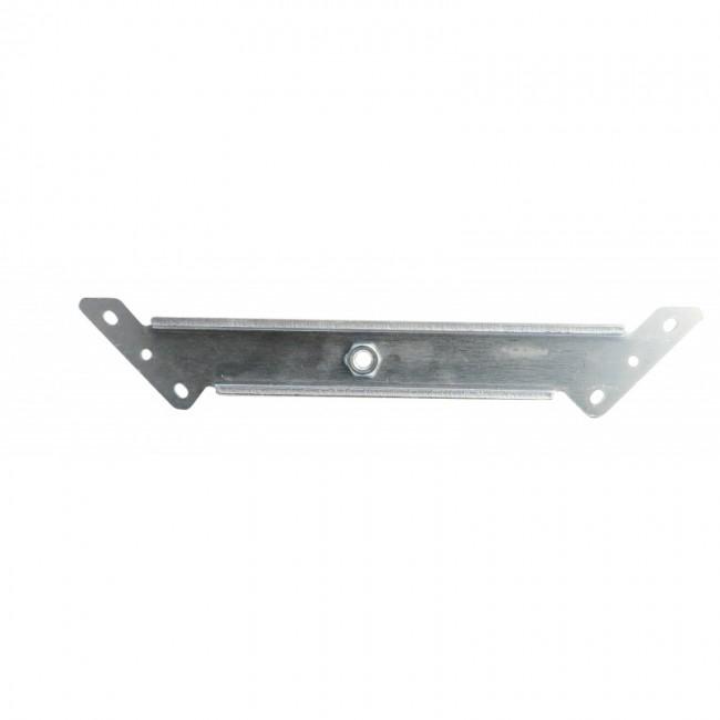 Ferrure d'angle zinguée - longueur 360 mm - largeur 40 mm - écrou M 10 AVL