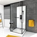 Cabine de douche - Métro - 2 dimensions -porte pivotante AURLANE