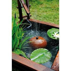 Bassin de jardin en bois carré 290 L Tokyo + bâche + pompe