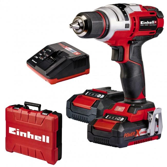 Perceuse visseuse - sans fil - TE-CD 18 Li E (2x2,0Ah) - 2 batteries EINHELL