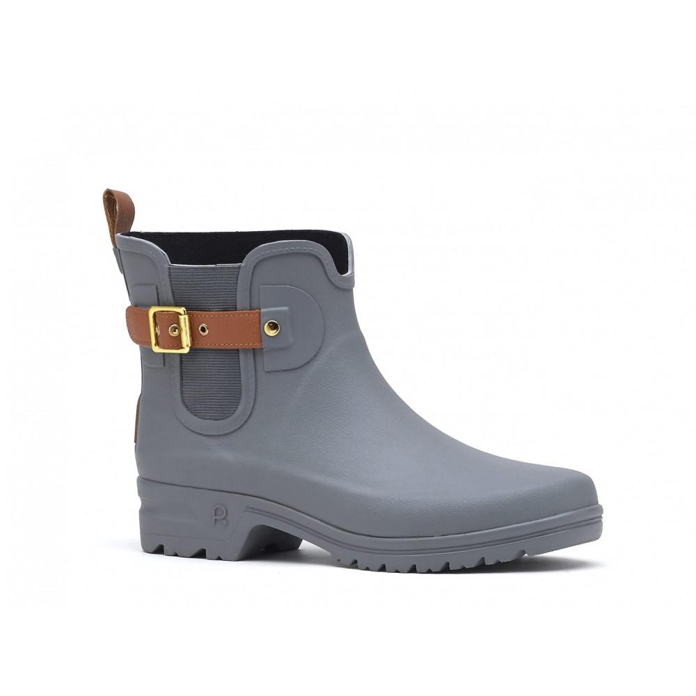 boots caoutchouc active style grises - t.36 à 41 rouchette | bricozor