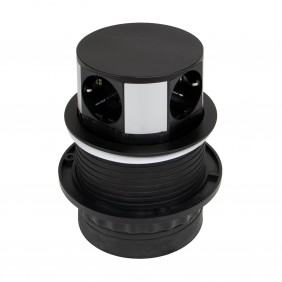 Multiprises à encastrer - rétractable - 5 prises - Vertikal Push 100 EMUCA