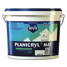 Peinture acrylique - application murale -  5 litres - Planicryl+ blanc LEVIS