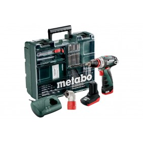 Perceuse sans fil 10,8V 2/4Ah BS QUICK + 64 accessoires - 600157880 METABO