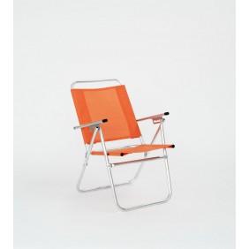 Lot de 4 fauteuils inclinables – orange – Camelia 190 HEVEA