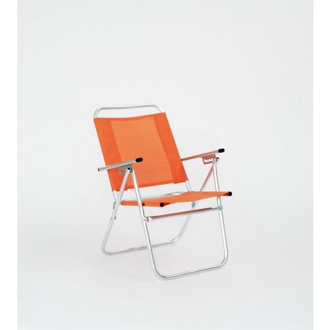 Lot de 4 fauteuils inclinables – orange – Camelia 190