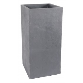 Bac carré  - hauteur 80 cm - 31 litres - gris galet - Volcania 13730 EDA PLASTIQUES