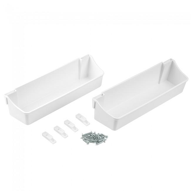 Jeu de bacs auxiliares - 350 mm - plastique blanc EMUCA