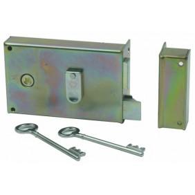 Serrure de grille - pose en applique horizontale - fouillot à gorges - 7487 VACHETTE