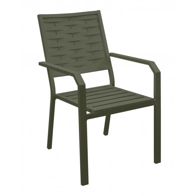 Lot de 2 fauteuils de jardin aluminium -  coussin écru - Auxana INDOOR OUTDOOR