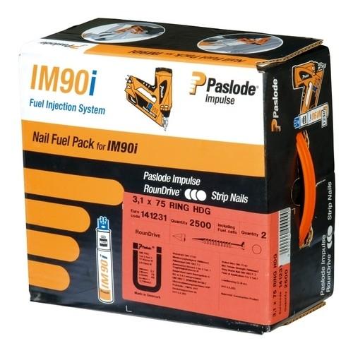 Pack clous inox crantés pour cloueur à gaz