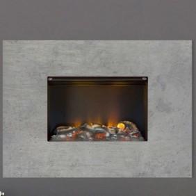 Cadre mural - Concrete Wall L - Gris - 1000w/2000w - Optimyst GLEN DIMPLEX