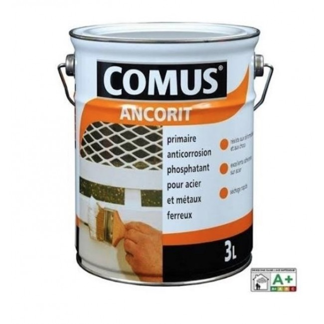 Primaire aintirouille - 0,75 litre - Ancorit noir 0xyde 900 COMUS