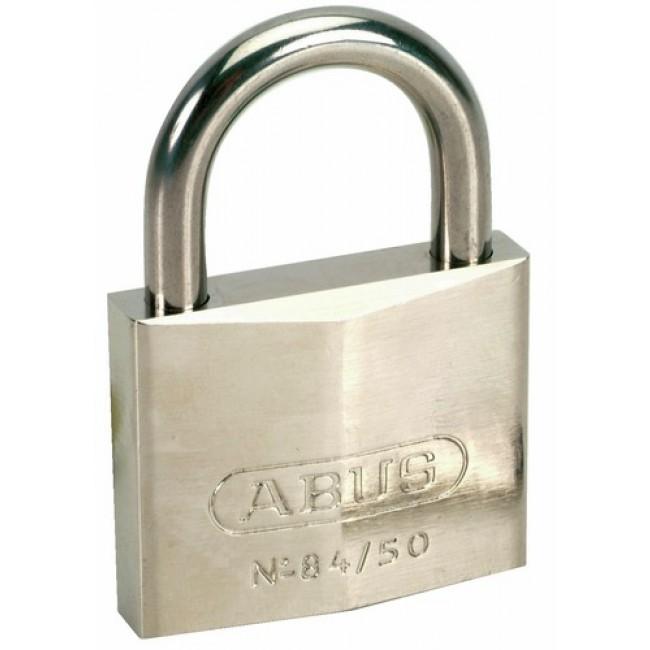 Cadenas à clé - corps laiton chromé - anse inox - 84IB ABUS