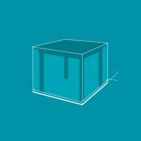 Housse de protection ensemble table rectangulaire + chaises - 130x130x80 cm VERT AZUR