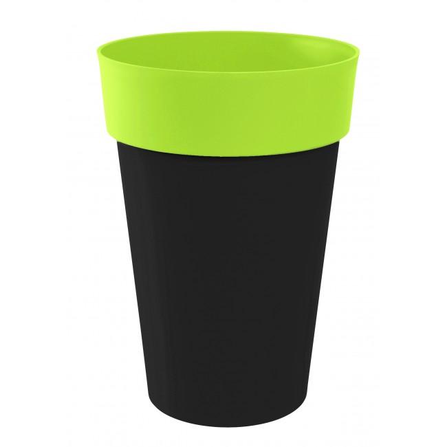 Pot rond anthracite pistache  -  67 litres - Style 13687