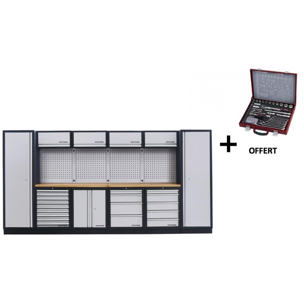 meuble d 39 atelier modulaire 6 l ments plan de travail au. Black Bedroom Furniture Sets. Home Design Ideas